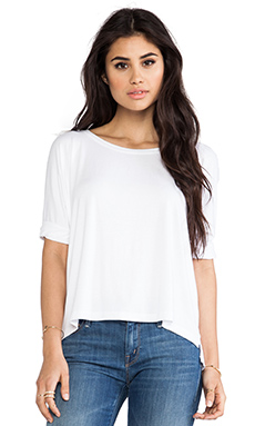 Feel the Piece Zoey Slit Back Tee in White
