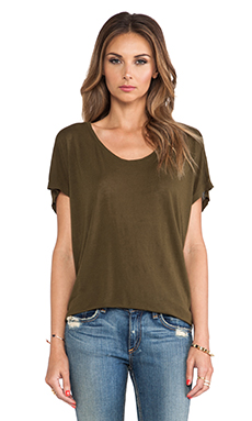 Feel the Piece Linen Betsy Tee in Burnt Olive