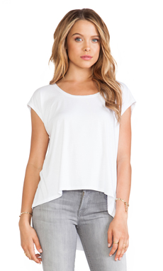 Feel the Piece Ansley Hi-Lo Top in White