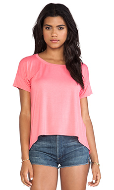Feel the Piece Ryann Drop Shoulder Tee in Strawberry Pink