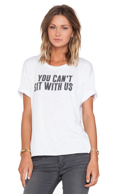 Feel the Piece x Tyler Jacobs You Can't Sit With Us Tee in White