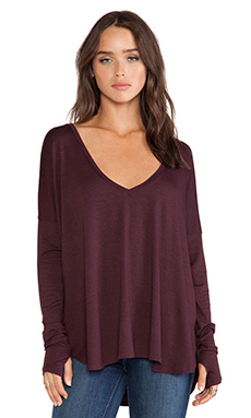 Feel the Piece Robin Top in Heather Wine