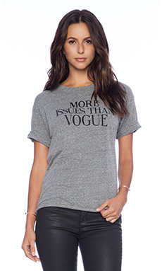 Feel the Piece x Tyler Jacobs More Issues Than Vogue New Boyfriend Tee in Medium Grey & Heather Melange