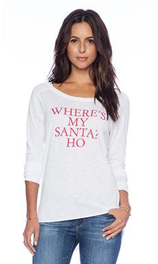 Feel the Piece x Tyler Jacobs Where's My Santa Ho Long Sleeve Top in Snow Slub