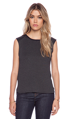 Feel the Piece Viv Tank in Charcoal & Black