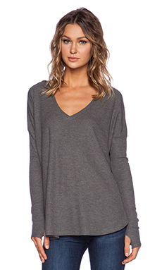 Feel the Piece Robin Thermal with Thumb Holes in Medium Heather