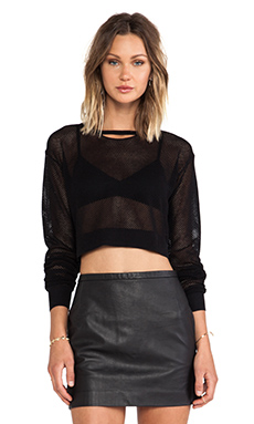 Friend of Mine Netted Top in Black