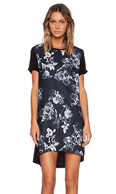 The Fifth Label Chain of Fools T-Shirt Dress in Floral Print & Black