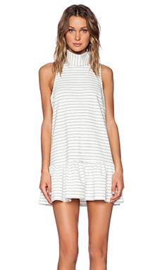 The Fifth Label River City Dress in White & Black Stripe