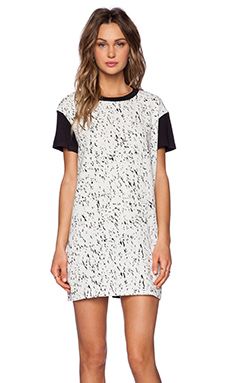 The Fifth Label Sleepwalker T-Shirt Dress in Light Galaxy Print & Black