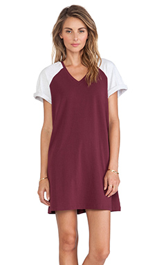 The Fifth Label Drop The Game T-Shirt Dress in Maroon & Light Grey