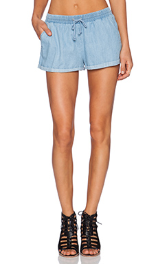 The Fifth Label Ordinary People Shorts in Chambray