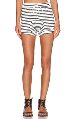 The Fifth Label Laguna Short in White & Black Stripe