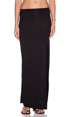The Fifth Label Chrome Maxi Skirt in Black