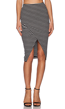 The Fifth Label Roadhouse skirt in Black & White Stripe