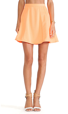 The Fifth Label Right Here Skirt in Bright Orange