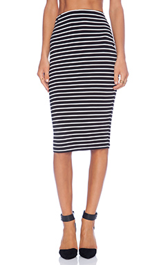 The Fifth Label For Good Skirt in Black & Ivory Stripe