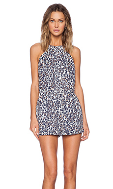 The Fifth Label Stand Still Playsuit in Light Leopard Print