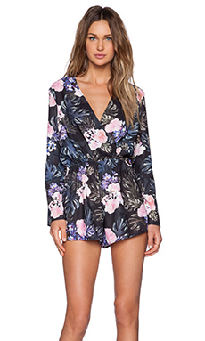The Fifth Label Party Talk Playsuit in Floral Print