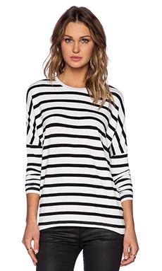 The Fifth Label Kingdom Come Top in White & Black Large Stripe