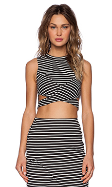The Fifth Label Starstruck Top in Black & White Stripe