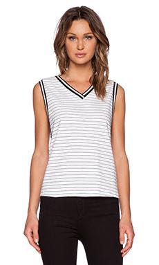 The Fifth Label American Girl Tank in White & Black Stripe