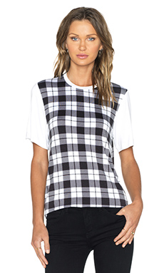 The Fifth Label Sleepwalker T-Shirt in Tartan Print &White