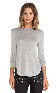 The Fifth Label All Night Long Sleeve Top in Grey Marle