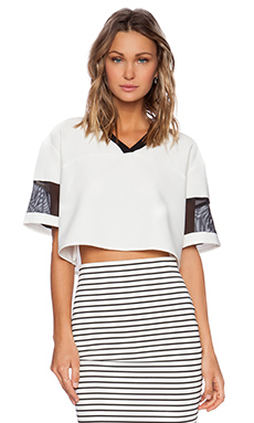 The Fifth Label You And Me Top in White & Black