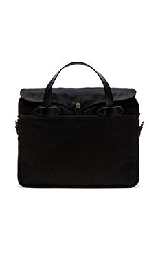 Filson The Black Collection Twill Original Briefcase in Black