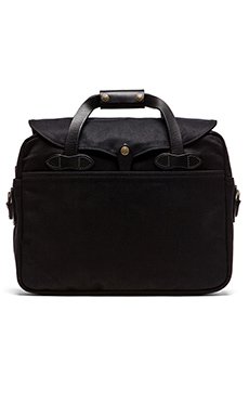 Filson The Black Collection Twill Large Briefcase/ Computer Case in Black