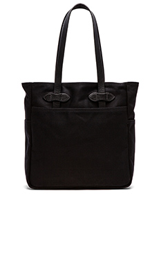 Filson The Black Collection Twill Tote Bag in Black