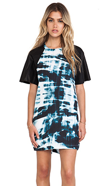 Finders Keepers Yesterday Dress in Tie Dye & Black