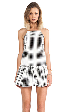 Finders Keepers Strange Fire Dress in White/Black