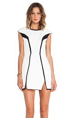 Finders Keepers By The Way Dress in White & Black