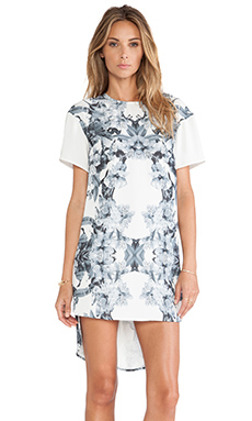 Finders Keepers Walk the Line Dress in Floral Print & Ivory