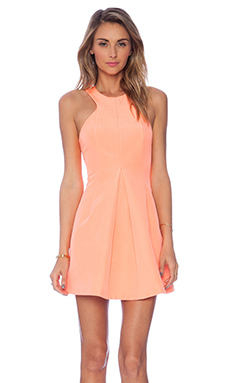Finders Keepers The Unbelivers Dress in Bright Apricot