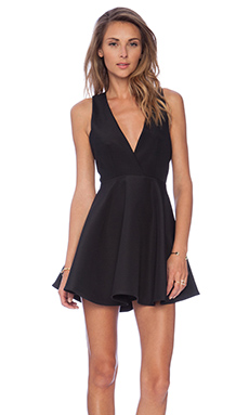 Finders Keepers Get Away Mini Dress in Black