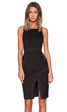 Finders Keepers Back To Town Dress in Black