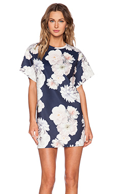 Finders Keepers House of Cards Dress in Digital Floral Navy