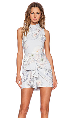 Finders Keepers Earthly Treasures Dress in Digital Floral Grey