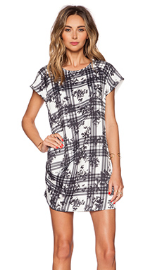 Finders Keepers Surrender Dress in White Tartan Floral