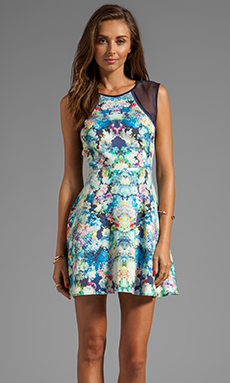 Finders Keepers Great Deception Dress in Flower Bomb Navy/Navy