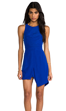 Finders Keepers On Your Way Dress in Cobalt