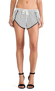 Finders Keepers Sleepsong Shorts in White & Black