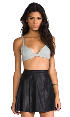 Finders Keepers Last Call Bra Top in Light Grey Marle