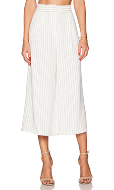 Finders Keepers New Line Pant in Pinstripe White