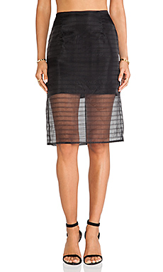 Finders Keepers Stand Still Skirt in Black