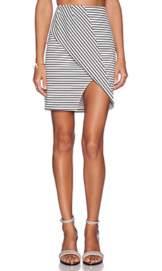 Finders Keepers Tightrope Skirt in Stripe Print