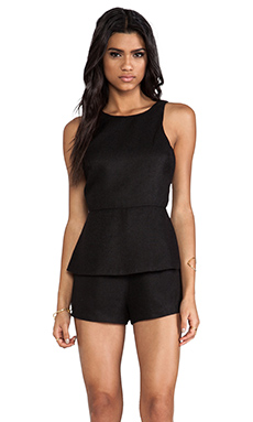 Finders Keepers Stranger In Paradise Playsuit in Black